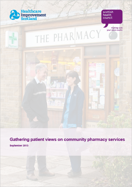 Gathering patient views on community pharmacy services