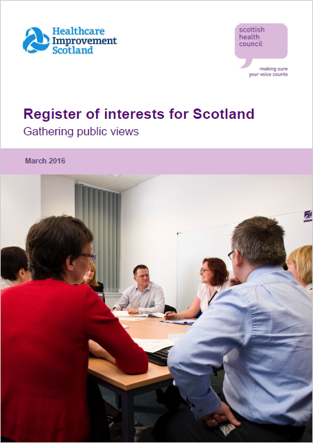 Gathering public views on a register of interests for Scotland