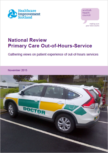 Gathering views on patient experience of out-of-hours services